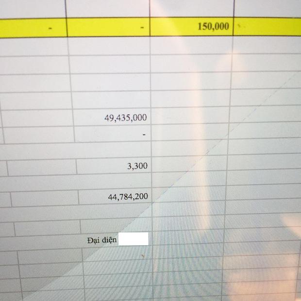 """Thúy Vi khoe bảng tính doanh thu bán buôn một tháng của mình """"khá sơ sài"""" lên mạng xã hội."""