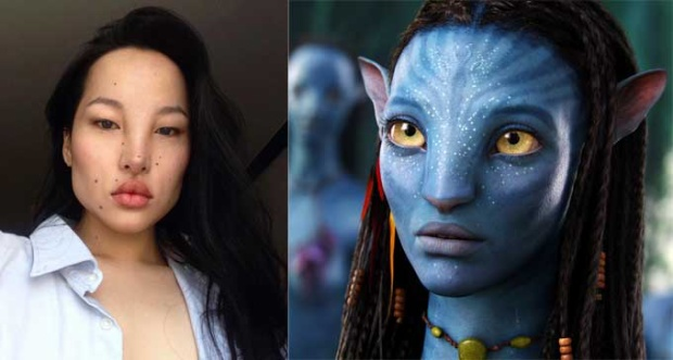 """Gương mặt cô từng được so sánh với tạo hình nhân vật trong phim """"Avatar""""."""
