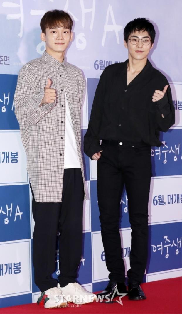 Chen, Xiu Min (EXO) cùng loạt nghệ sĩ nổi tiếng tham dự buổi công chiếu 'Student A'