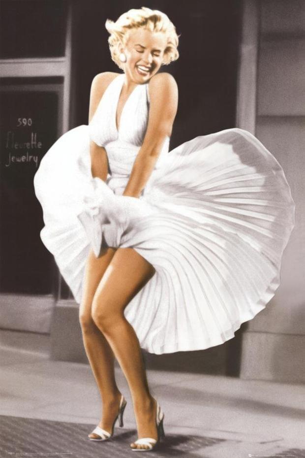 Cảnh tốc váy nổi tiếng trong phim The seven-year itch (Mirror)