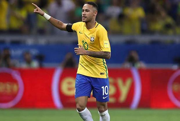 = 1. Neymar - Brazil: Tỷ lệ cược (đặt 1 ăn 10).