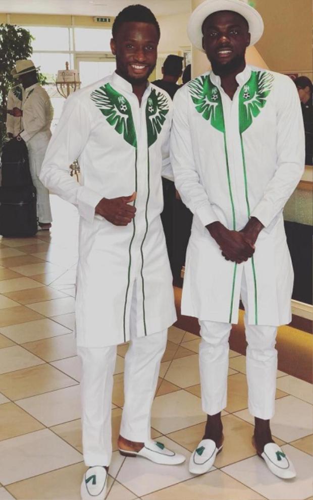 Trang phục của đội tuyển Nigeria lấy cảm hứng từ truyền thống.