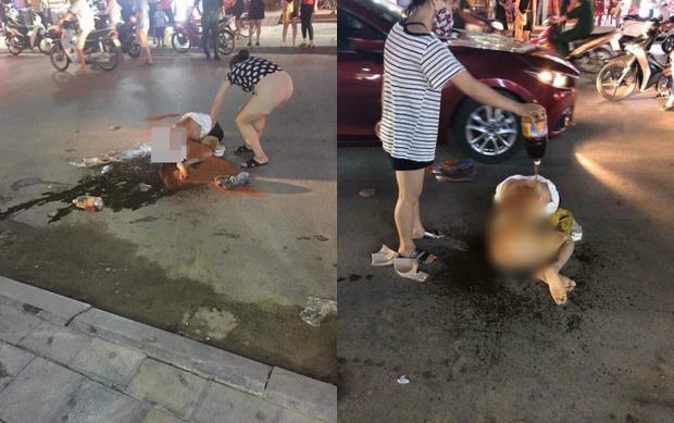 Cô gái bị đánh đập đổ nước mắm và muối ớt lên người.