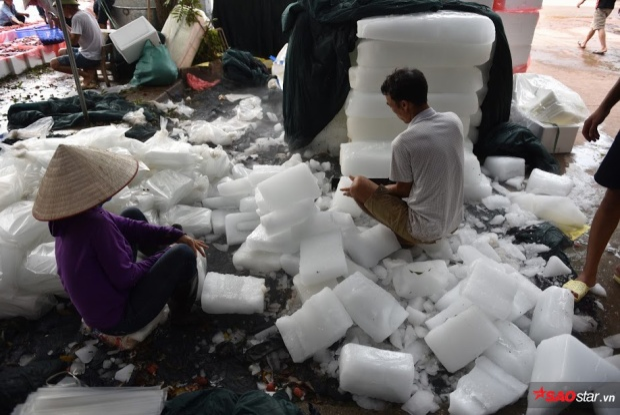 Vải sẽ được ướp với đá lạnh để bảo quản lâu hơn, có thể mang đi xa.
