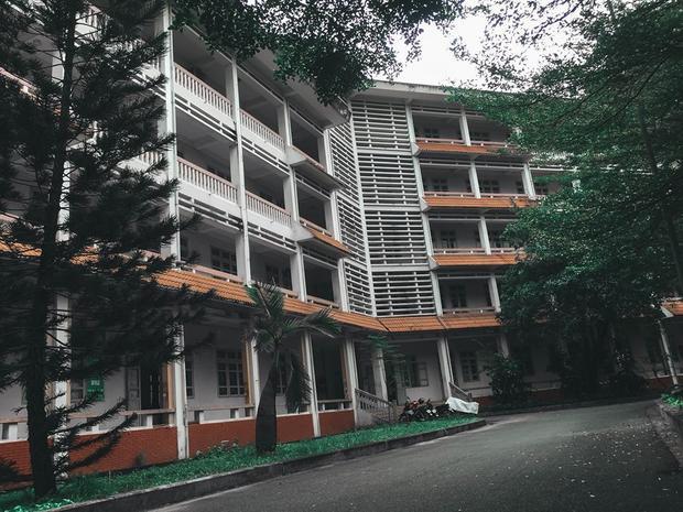 Các dãy phòng học mang nét đẹp cổ kính, trầm mặc thuộc khu giảng đường Rạng Đông.