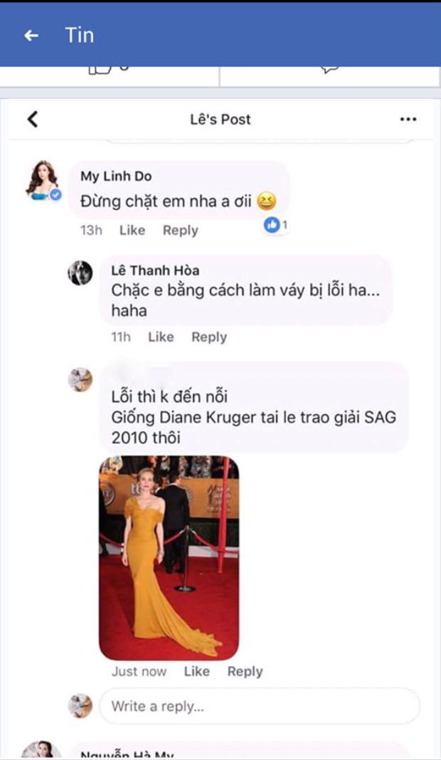 Nhà thiết kế Lê Thanh Hòa và Đỗ Mỹ Linh đã có những dòng bình luận trước sự phát hiện của người hâm mộ.