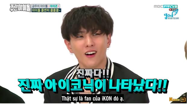 Vẻ mặt thích thú của Donghyuk trước thử thách của fan.