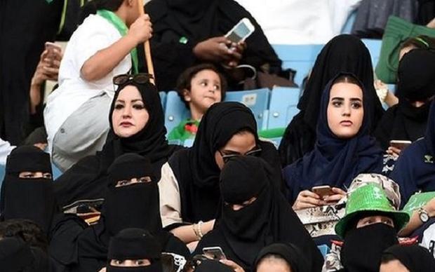 Phụ nữ Ả rập Saudi đã được tới sân xem bóng đá