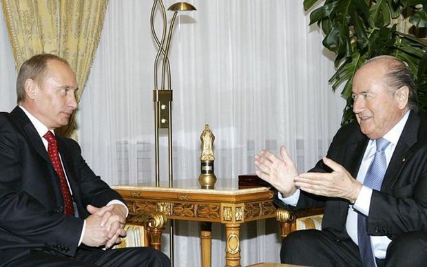 Một cuộc gặp mặt giữa tổng thống Putin và Blatter đã được tổ chức và đây là dấu mốc quan trọng cho chiến dịch vận động này.