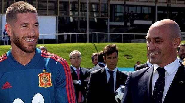 Ramos đã lao vào ẩu đả với chủ tịch liên đoàn bóng đá Tây Ban Nha.