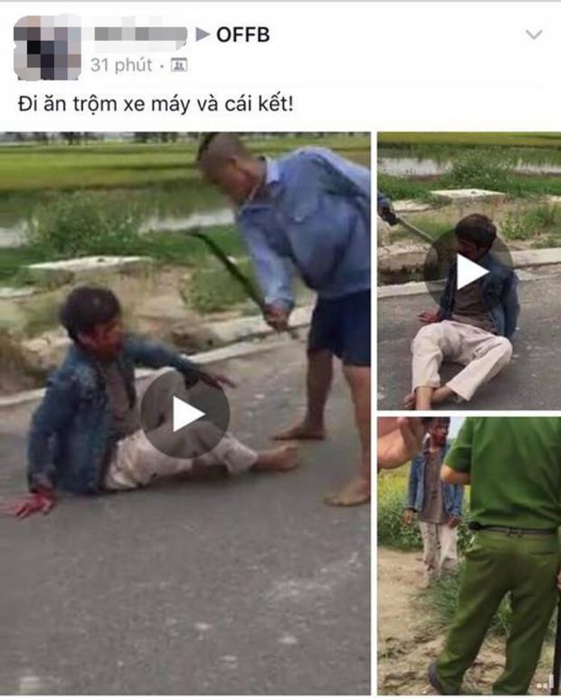 Nhiều đoạn clip ghi lại hình ảnh người đàn ông trộm bị đánh tới tấp.
