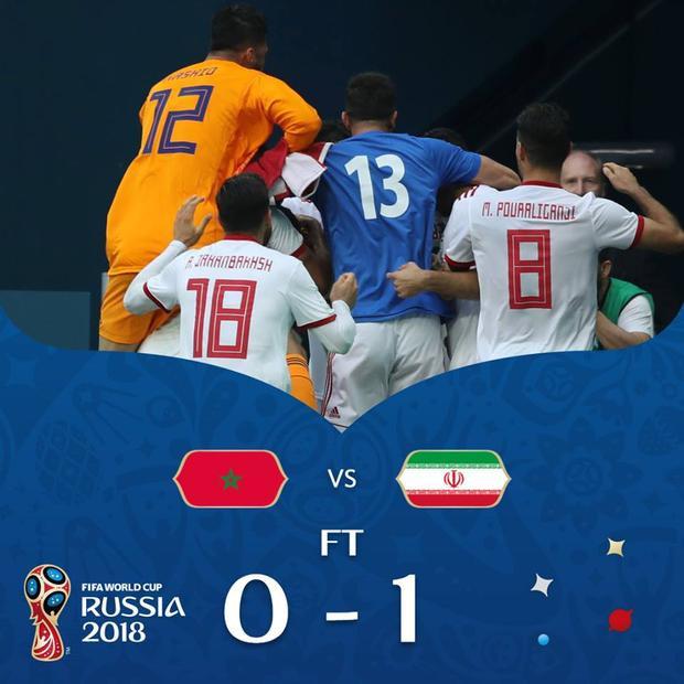 Iran gây cú sốc lớn ở World Cup 2018. Ảnh: FIFA