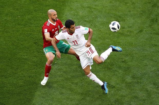 Iran đã chơi ngoan cường trong suốt 90 phút. Ảnh: FIFA