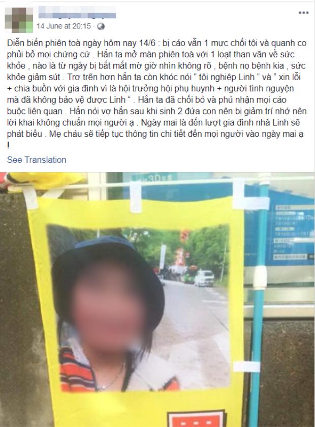 Những dòng chia sẻ phẫn uất của mẹ bé Nhật Linh.