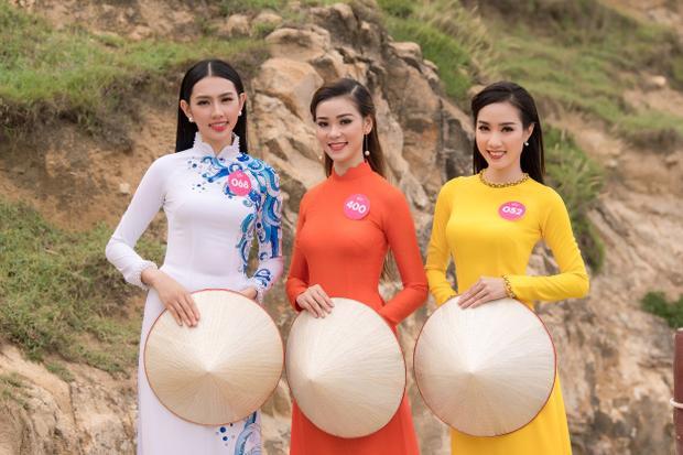 Top 30 phía Nam Hoa hậu Việt Nam 2018 đẹp nền nã đậm chất Á đông với áo dài truyền thống