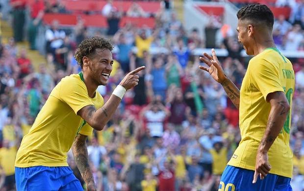 Neymar mới trở lại trong trận gặp đội tuyển Croatia.