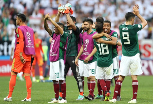 Mexico tạo ra cú sốc trước ĐT Đức. Ảnh: Getty.