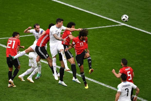 Đội tuyển Ai Cập để thua trướcUruguay. Ảnh: Getty Images