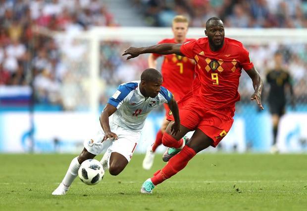 Lukaku có cú đúp bàn thắng ngay trong trận mở màn World Cup 2018. Ảnh: FIFA