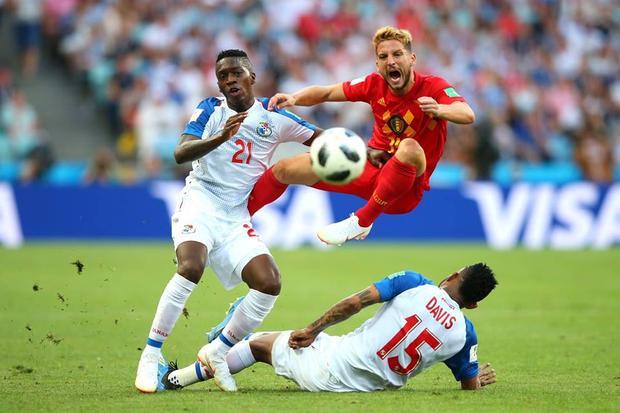 Bỉ gặp nhiều khó khăn trong hiệp 1 trước Panama. Ảnh: FIFA