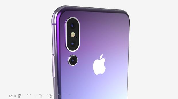 Tác giả bản thiết kế cũng thể hiện một concept iPhone có ba ống kính ở mặt lưng.