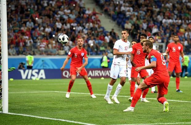 Kane thêm một lần tỏa sáng ở phút bù giờ. Ảnh: FIFA