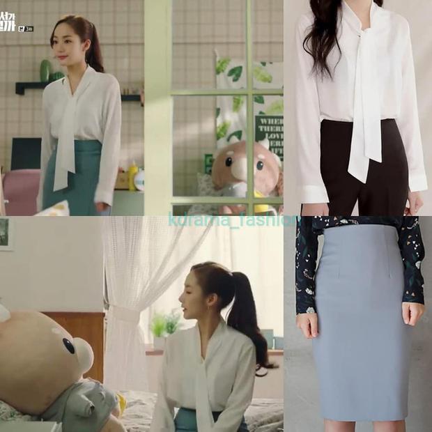 Park Min Young trung thành với váy bút chì trong suốt các tập phim đầu tiên.