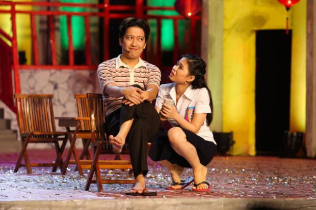 Hình ảnh của Trường Giang trong đêm liveshow Chàng hề xứ Quảng diễn ra vào tháng 11/2015.