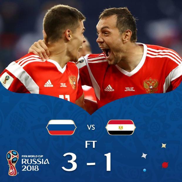 Tuyệt vời, tuyển Nga đang chơi quá hay ở World Cup 2018. Ảnh: FIFA