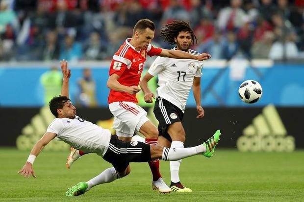 Ai Cập nhanh chóng sụp đổ trước Nga trong hiệp 2. Ảnh: FIFA
