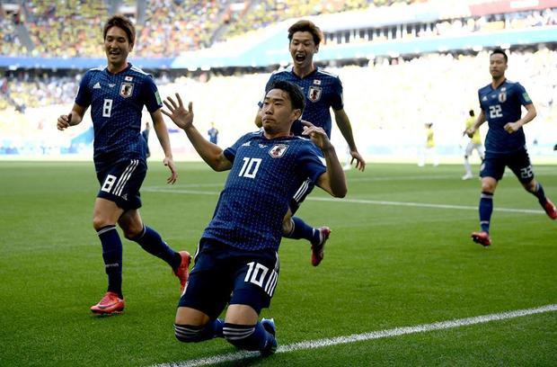 Nhật Bản tạo ra cú sốc khi hạ Colombia. Ảnh: FIFA