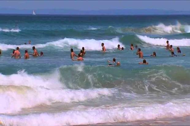 Khu vực biển khiến 2 em học sinh tử vong. Ảnh: SGGP.