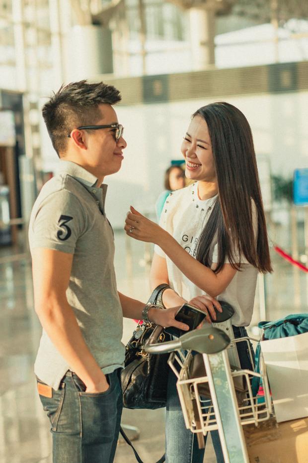 Anh cũng dặn dò cô giữ gìn sức khỏe, thể hiện hết mình trong suốt hành trình cuộc thi và tự tin giành ngôi vị cao nhất.
