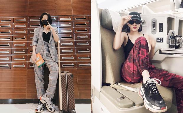 Thời trang bay cũng vẫn là phong cách cá tính, bụi bặm. Các set đồ gây chú ý với giày ông già hầm hố, giúp cô nàng cool ngầu hết nấc.