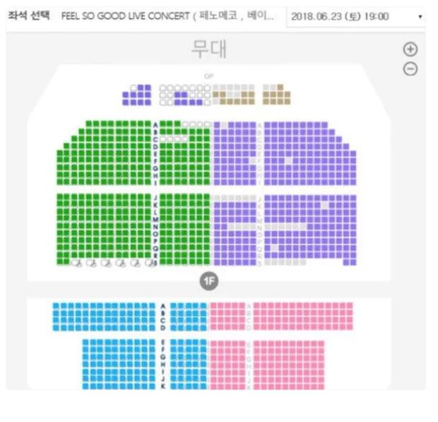 Nhìn lượng vé bán ra (màu trắng) mới thấy thê lương như thế nào. Một số tin chưa được xác nhận nói rằng, concert chỉ bán được 90 ghế trong vòng 10 ngày.