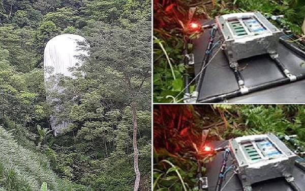Vật thể lạ rơi xuống rừng ở Hà Giang.