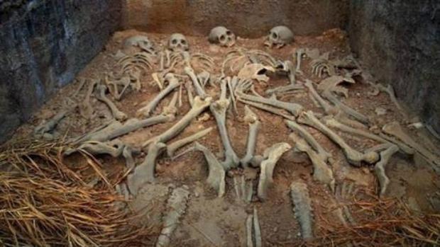 Trong ngôi cổ mộ chưa rõ danh tính chủ nhân này, các nhà khảo cổ đã phát hiện ra hàng chục bộ di cốt của những kẻ mộ tặc. (Ảnh minh họa).