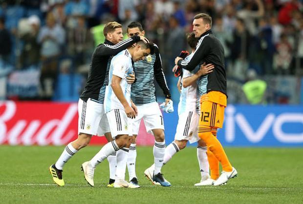 Khả năng bị loại của Argentina là rất lớn. Ảnh: Getty.