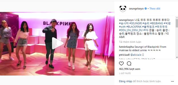 Seungri chia sẻ Clip nhảy cùng BlackPink với vũ đạoDdu-Du Ddu-Du cực điêu luyện.