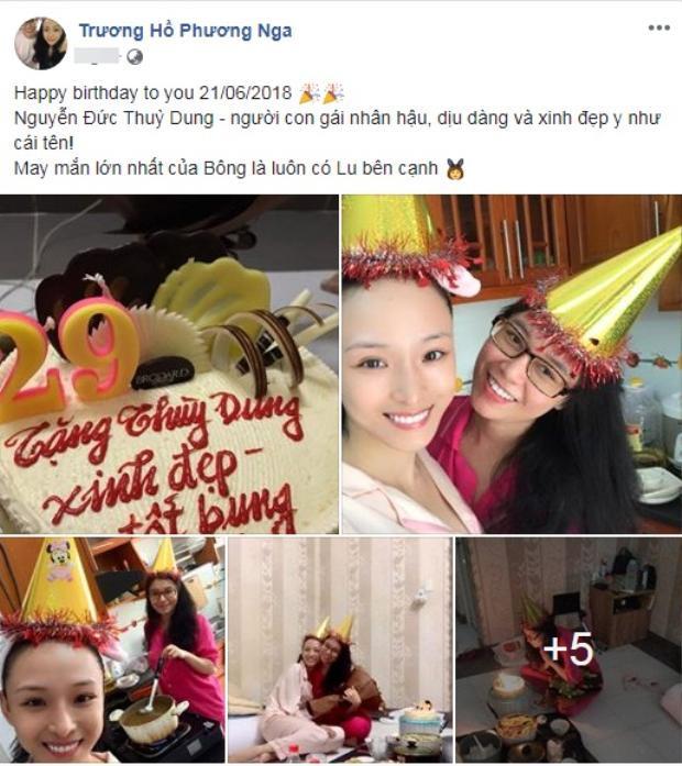 Phương Nga đăng tải ảnh chúc mừng sinh nhật Thùy Dung trên trang cá nhân.