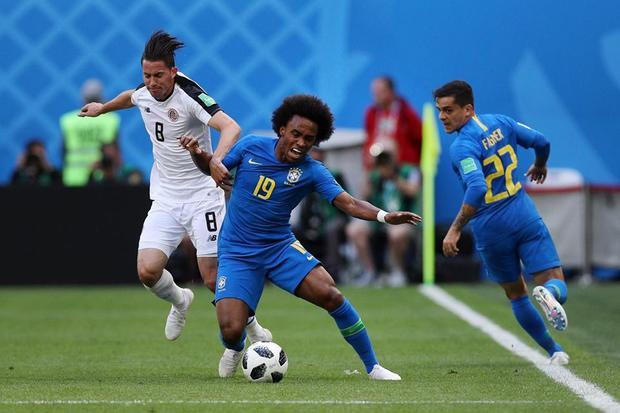 Mặc dù rất cố gắng nhưng Brazil không thể có bàn thắng ở hiệp 1. Ảnh: FIFA
