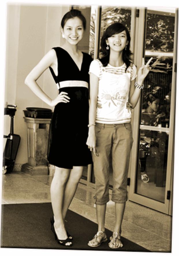 Thùy Linh khi lần đầu xuất hiện bên chị gái.