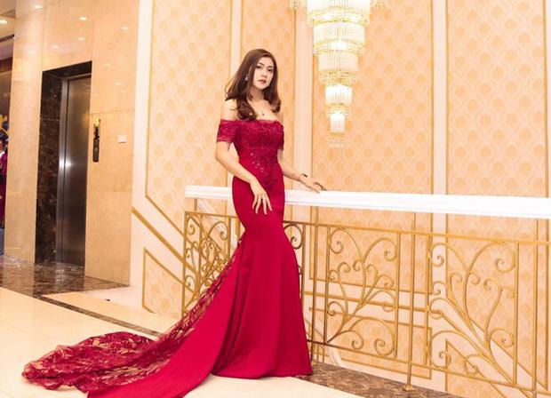 Thu Hằng xinh đẹp khi diện đầm dạ hội.