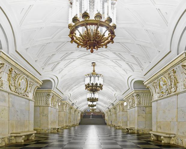 Ga Prospekt Mira với nhiều hoạ tiết thể hiện văn hoá và lịch sử Nga.