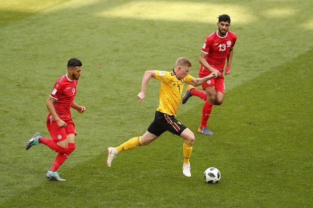 Tiền vệDe Bruyne đang là ngòi nổ xuất sắc nhất World Cup 2018. Ảnh: FIFA