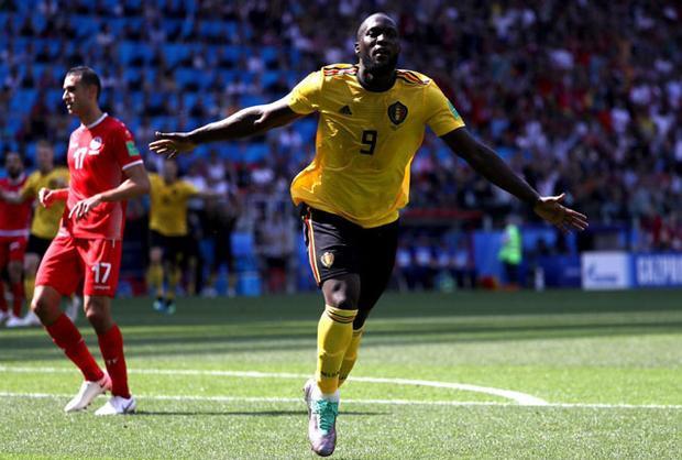 Lukaku đã có 4 bàn tại World Cup 2018 giống Ronaldo. Ảnh: Getty.