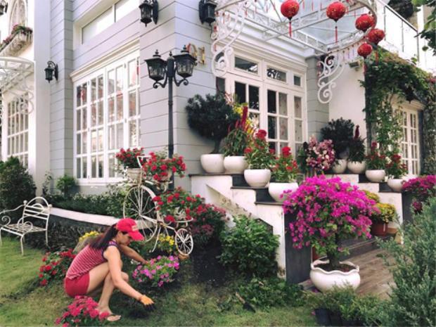 Còn nhớ vào dịp Tết Nguyên đán vừa qua, siêu mẫu Thúy Hạnh khiến nhiều người bất ngờ với căn biệt thự đẹp như cổ tính xung quanh là khu vườn ngập hoa của mình trên trang cá nhân.