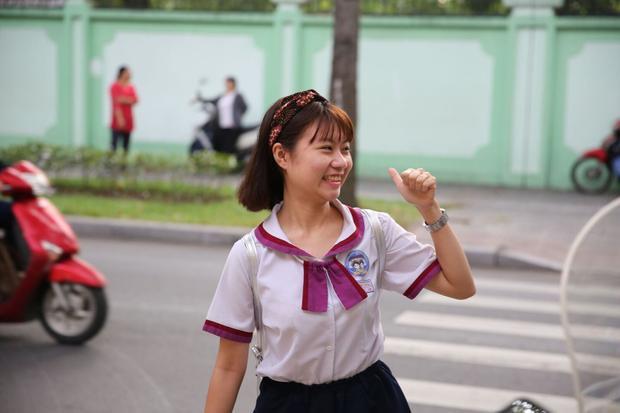 Cô bạn này tham gia dự thi tại điểm trường THPT Trưng Vương.