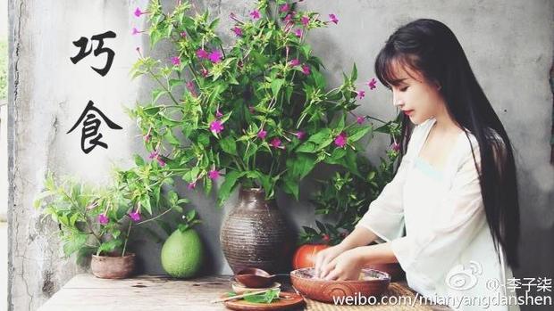 """Lý Tử Thất là một trong những hiện tượng mạng được chú ý nhất Trung Quốc năm qua với biệt danh """"thánh nữ nấu ăn phiên bản cổ trang"""". Không chỉ ở Trung Quốc, cô còn được biết đến ở nhiều nước châu Á khác trong đó có Việt Nam."""