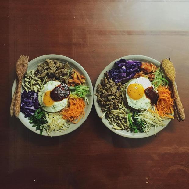 Rồi lại vòng về món cơm trộn Hàn Quốc.